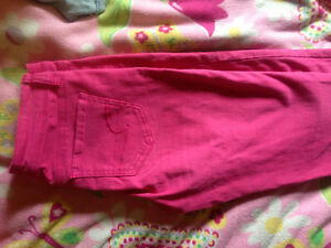 Size 0 white America eagle and size 4 American eagle Pink pant.