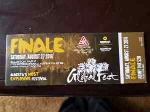 Calgary international fireworks competition ticket