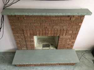 Stone mantel and hearth