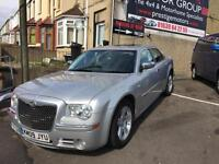 2009 09 Chrysler 300C 3.0CRD V6 auto IN SILVER WITH FULL BLACK LEATHER