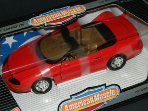 Ertl 1/18 Scale 1996 Camaro Z28 Convertible Diecast Car Red