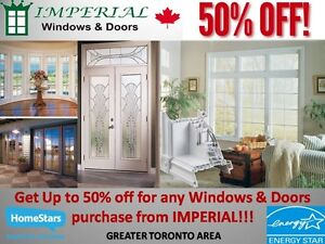 IMPERIAL WINDOWS AND DOORS - HUGE SALE EVENT 50% OFF