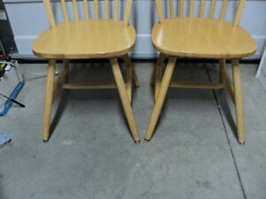 """CHAIRS!! (3)""""HONEY"""" COLOURED  ~ (2) ALL WOOD """"LIGHT COLOURED"""" Windsor Region Ontario image 6"""