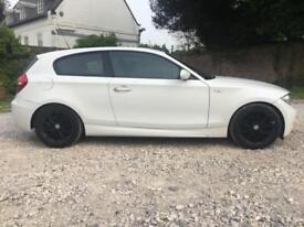 2008 58 BMW 118 D 2.0 M SPORT 3 DR HATCHBACK IN WHITE