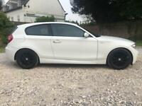 2008 58 BMW 118 D 2.0 M SPORT 3 DR HATCHBACK IN WHITE