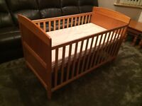 OBABY Grace Cot Bed (Pine)