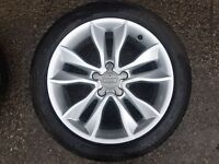 4 x Audi A3 Alloy sport wheels with new tyres