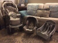 GRACO PRAM in GREAT condition + FREE CAR SEAT & BASE!!