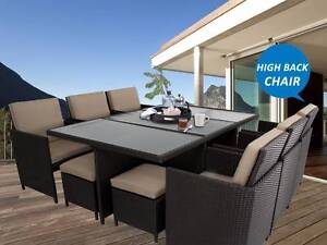 NEW 12 Seaters Wicker Outdoor Dining Set With High Back Chairs Newcastle Newcastle Area Preview