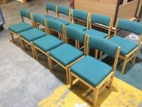 Solid beech office meeting reception chairs in excellent condition x12