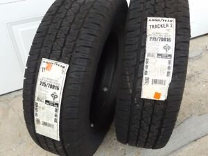 brand new set of two tires 215/70R16 Goodyear Tracker2