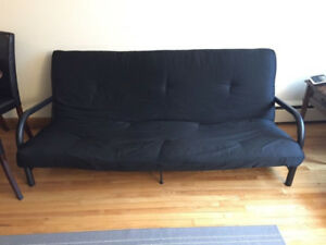 MOVING SALE: Metal Futon with mattress