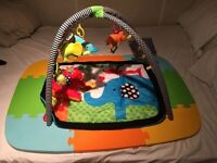 infantino baby gym set with rubber mats