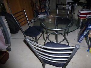 3 chairs and a table
