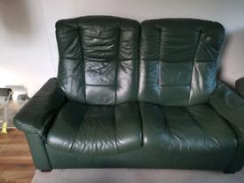Ekornes 2 seater recliner sofa armchair