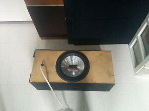 "10"" MTX car subwoofer in box"