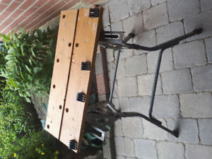 Foldable work bench with attachment for sale!