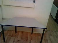 2 x Trapezium Children's Desks (120cm(60cm) x 55cm x 65cm)
