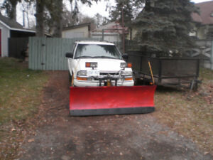 chevy blazer with power angle plow