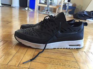 Black Nike Air Max Thea Cut Out Sneakers