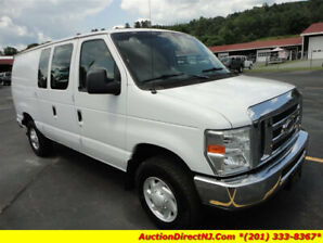 2009 Ford Van White E-250 3/4 ton Super Duty