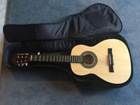Jr Guitar and case