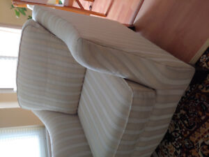 Beautiful wheat striped shelter arm chair