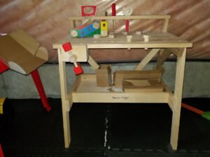 Melissa and Doug wooden toy workbench