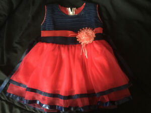 0-6 months baby girls party dress