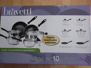 batterie de cuisine Bravetti 10 pièces