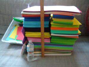 MASSIVE fun foam craft sheet lot