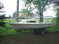 1983 Siren 17 sailboat and trailer
