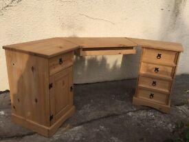 Corona pine corner desk can deliver locallyb