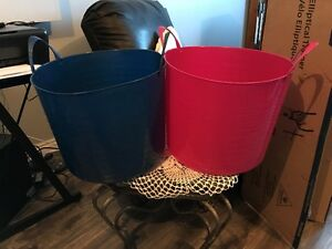 For sale: large rubber baskets