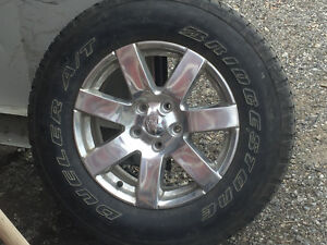 Jeep wrangler 18inch rims and tires p255/70R18