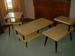 Vintage 50's 60's Arborite Coffee and End Tables