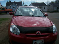 2011 Hyundai Accent red Hatchback