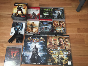 PS3 New 9 Game Lot Aliens WWE Resident Evil Batman Star Wars++