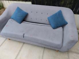 Grey Fabric 3 Seater Sofa £40