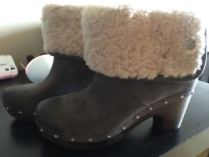 Brand New Suede UGG Clogs Size 8