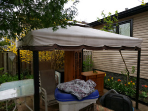 Gazebo and patio set