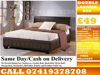 Double leather Bed / single / kingsize also available