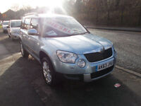 SKODA YETI ELEGANCE TDI CR DIESEL HATCH HEATED LEATHER SEATS 1 OWNER FSH 63
