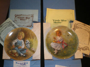 Two collector plates from the ''Mother Goose Series''