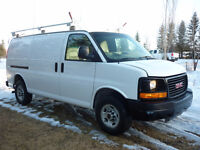 2011 GMC Savana 2500 Cargo Van w/ROOF RACK/SHELVING/PARTITION