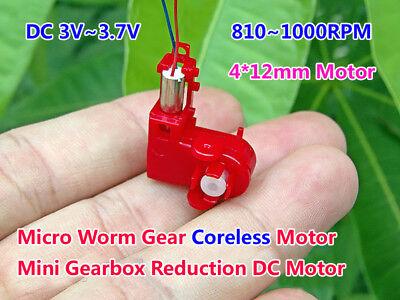Dc 3v 3.7v 1000rpm Micro Worm Gear Motor 412mm Mini Coreless Dc Motor Diy Toys