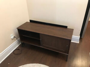 Ikea TV stand dark brow.