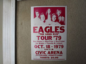 "FS: The Eagles ""The Long Run 1979 Tour"" (Civic Arena, Pittsburgh London Ontario image 1"