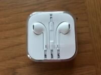 Genuine Apple EarPods with 3.5mm Headphone Plug, brand new unopened.