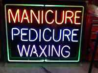 Manicure, Pedicure, Waxing sign